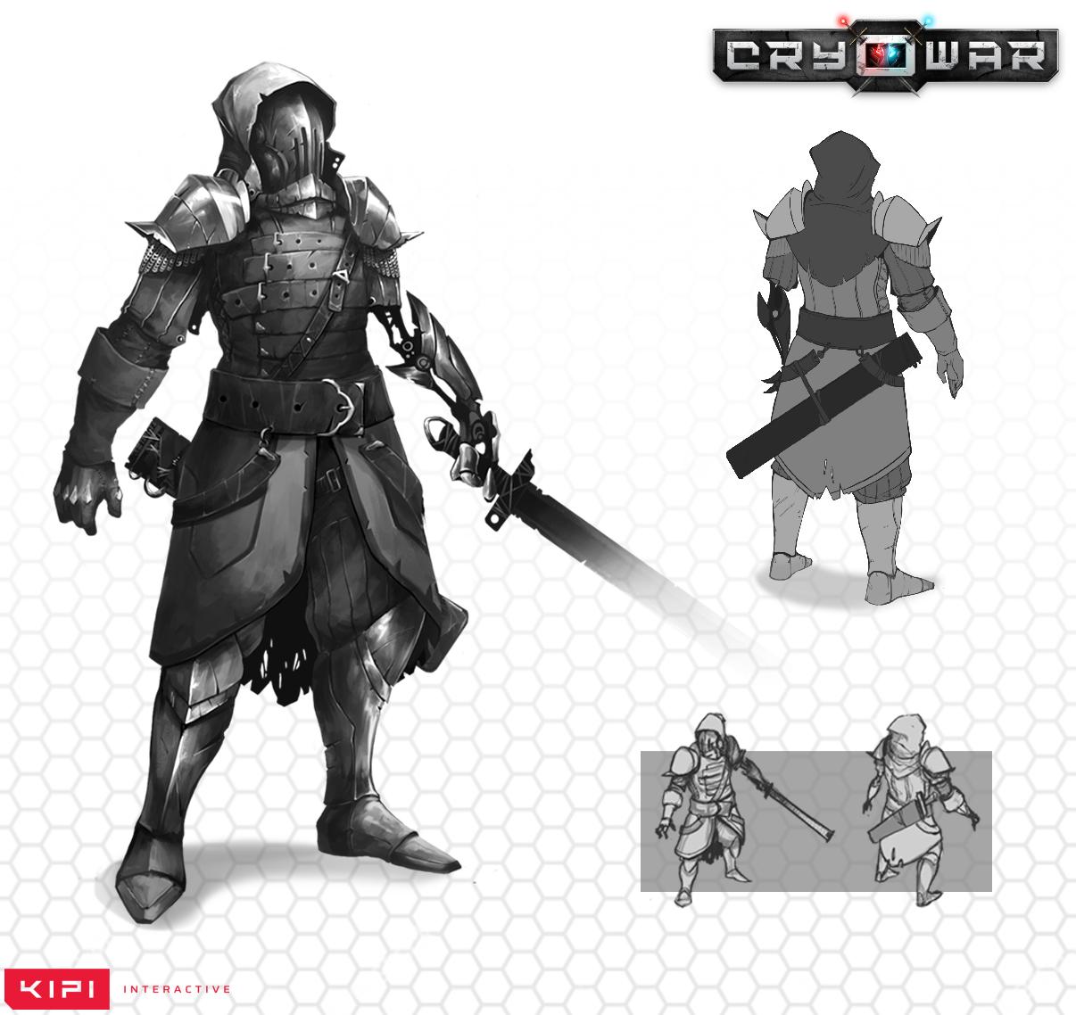 Cryowar Centurion Concept Art Front Back